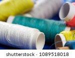 diy concept. sewing supplies ... | Shutterstock . vector #1089518018