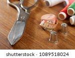 diy concept. sewing supplies ... | Shutterstock . vector #1089518024