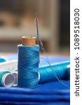 diy concept. sewing supplies ... | Shutterstock . vector #1089518030