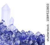 macro photo of blue sapphire... | Shutterstock . vector #1089522803
