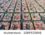 barcelona aerial view  famous... | Shutterstock . vector #1089525848