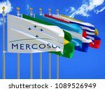 mercosur flag silk waving flags ... | Shutterstock . vector #1089526949