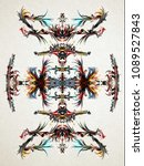 decor pattern with  colored... | Shutterstock . vector #1089527843