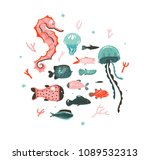 hand drawn vector abstract... | Shutterstock .eps vector #1089532313