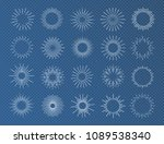 sunburst set white color... | Shutterstock .eps vector #1089538340