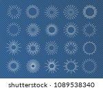 sunburst set white color... | Shutterstock .eps vector #1089538340