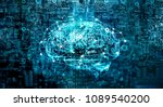 artificial intelligence digital ... | Shutterstock . vector #1089540200
