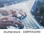 international business network... | Shutterstock . vector #1089541040