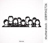 people group wearing... | Shutterstock .eps vector #1089542726