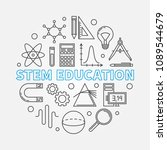 stem education vector round... | Shutterstock .eps vector #1089544679