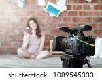 behind the film shooting video...   Shutterstock . vector #1089545333