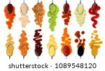 set of different sauces with... | Shutterstock . vector #1089548120