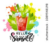 hello summer hand written... | Shutterstock .eps vector #1089548198