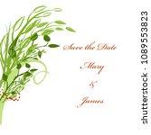 wedding cards  floral wedding... | Shutterstock .eps vector #1089553823