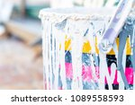 close up of old paint container ... | Shutterstock . vector #1089558593