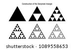 construction of the sierpinski... | Shutterstock .eps vector #1089558653
