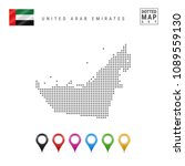 dotted map of united arab...   Shutterstock .eps vector #1089559130
