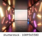 abstract contemporary art space ... | Shutterstock . vector #1089565580