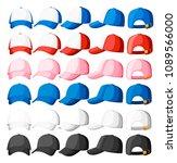 baseball cap. collection of... | Shutterstock .eps vector #1089566000