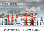 factories with smoke pipes....   Shutterstock .eps vector #1089566030