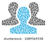 users mosaic of dollars and... | Shutterstock .eps vector #1089569558