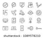 check mark icon set. included... | Shutterstock .eps vector #1089578210