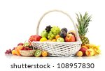 assortment of exotic fruits and ... | Shutterstock . vector #108957830