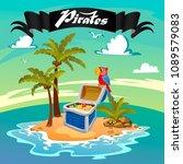 treasure island  pirate island | Shutterstock .eps vector #1089579083