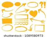 doodle vector arrows set. | Shutterstock .eps vector #1089580973