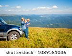 the tourists are navigating | Shutterstock . vector #1089581036