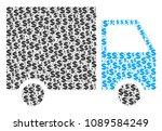 shipment van collage of dollar...   Shutterstock .eps vector #1089584249