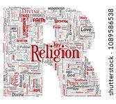 vector conceptual religion  god ...   Shutterstock .eps vector #1089586538