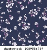 abstract flowers pattern on... | Shutterstock .eps vector #1089586769
