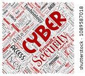 vector conceptual cyber... | Shutterstock .eps vector #1089587018