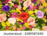 beautiful flowers as background | Shutterstock . vector #1089587690