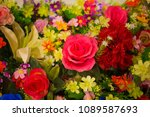 beautiful flowers as background | Shutterstock . vector #1089587693