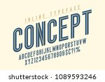 condensed inline horizont font  ...   Shutterstock .eps vector #1089593246
