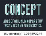 condensed inline horizont font  ... | Shutterstock .eps vector #1089593249