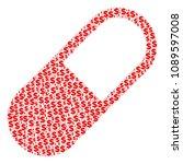 medication granule collage of... | Shutterstock .eps vector #1089597008