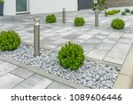 boxwood at the house entrance   Shutterstock . vector #1089606446
