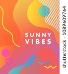 unique artistic design card  ...   Shutterstock .eps vector #1089609764