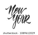 vector illustration. vintage... | Shutterstock .eps vector #1089612029