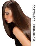 brown hair. beautiful woman... | Shutterstock . vector #108961520
