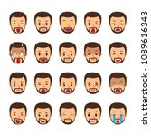 vector cartoon set of a man... | Shutterstock .eps vector #1089616343