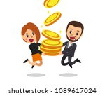 business concept vector cartoon ... | Shutterstock .eps vector #1089617024