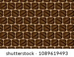 coffee beans   brown vector... | Shutterstock .eps vector #1089619493