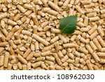 the wooden pellets .ecological heating - stock photo