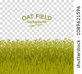 green oat field on checkered... | Shutterstock .eps vector #1089621596