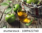 fresh apple juice and ripe... | Shutterstock . vector #1089622760