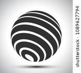 black world globes   stock... | Shutterstock .eps vector #1089627794
